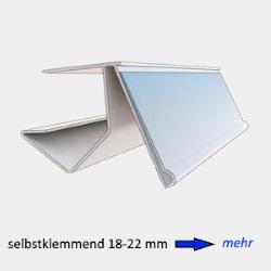 Etikettenhalter selbstklemmend 18-22 mm