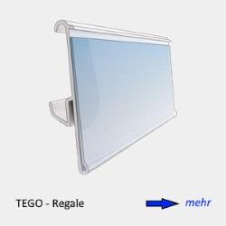 Etikettenhalter für TEGO-Regale